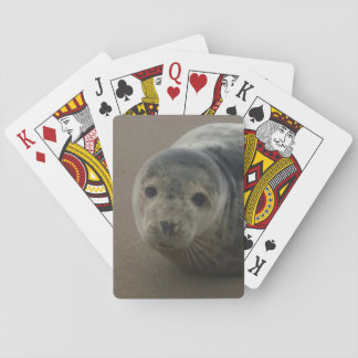 Grey seal pup cute playing cards