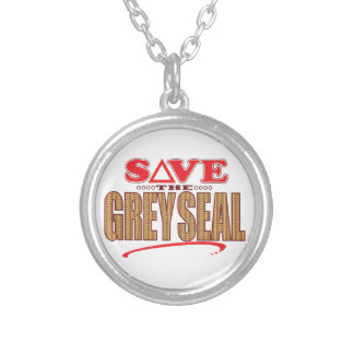 Grey Seal Save Silver Plated Necklace