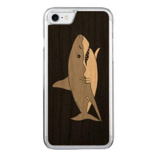 Grey shark carved iPhone 8/7 case