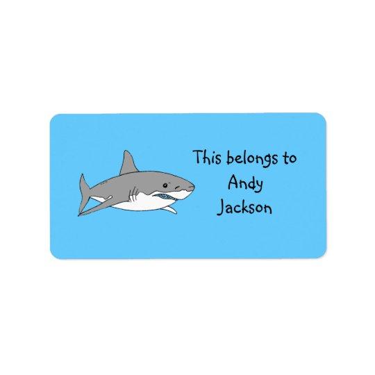 Grey shark label