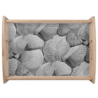 grey shell serving tray