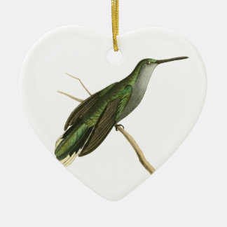 Grey Sickle-winged Humming Bird Illustration by Wi Christmas Ornament