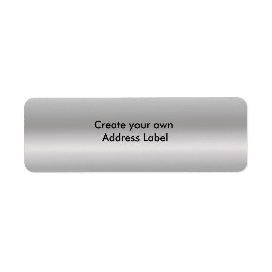 Grey Silver  Matte Return Address Label