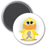 Grey/Silver Ribbon Duck Magnets