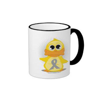 Grey/Silver Ribbon Duck Mugs