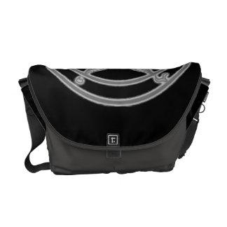Grey Sketch Baphomet Messenger Bag