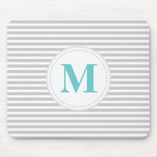 Grey Skinny Stripe Mouse Mat