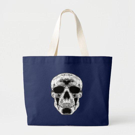 Grey Skull Alpha Large Tote Bag
