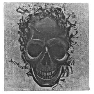 Grey skull napkin