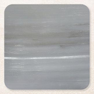 Grey Sky Square Paper Coaster