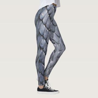 Grey Snake Skin Leggings