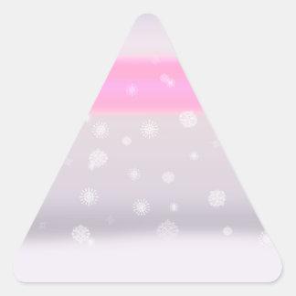Grey Snow Fade Triangle Sticker