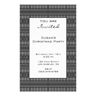 Grey Snowflake Christmas pattern 14 Cm X 21.5 Cm Flyer