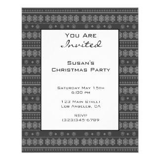 Grey Snowflake Christmas pattern 11.5 Cm X 14 Cm Flyer
