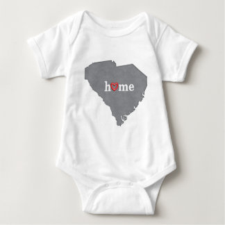 Grey SOUTH CAROLINA Home & Open Heart Baby Bodysuit