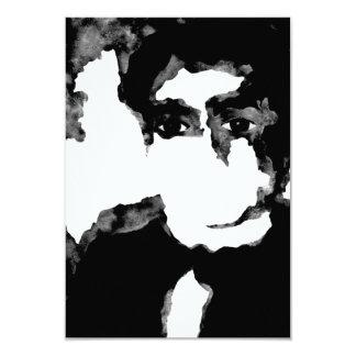 grey space. jjp. 9 cm x 13 cm invitation card