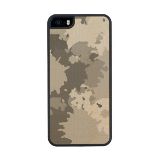 Grey Splash Abstract Carved® Maple iPhone 5 Slim Case
