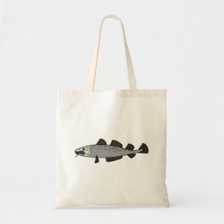Grey Spotted Fish Canvas Bag