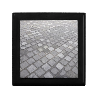 Grey Square Paving Background Gift Box