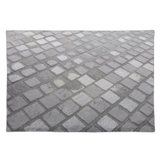 Grey Square Paving Background Placemat