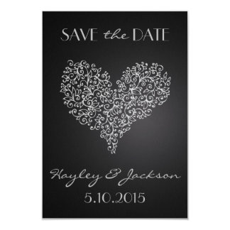 "grey square wedding save the date card ""with love"""