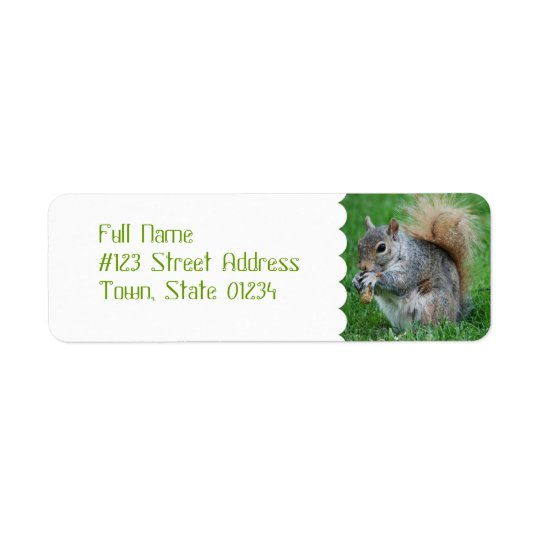 Grey Squirrel Mailing Labels