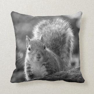 Grey squirrel throw cushion