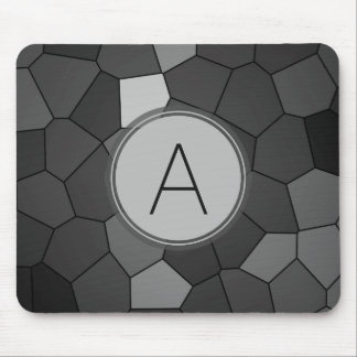 Grey Stained Glass Mosaic Mouse Pad