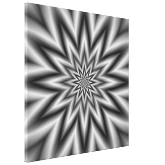 Grey Star Canvas Print