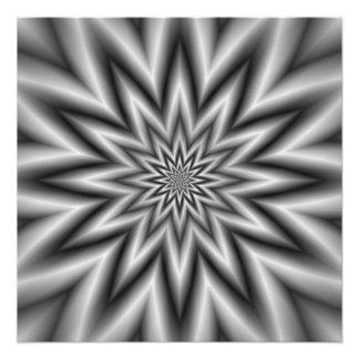 Grey Star Photo Print