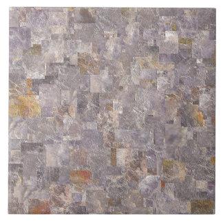 Grey stone effect tile