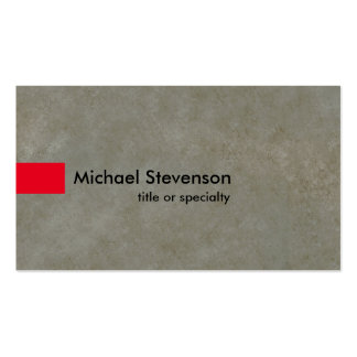 Grey Stone Red Modern Unique Consultant Pack Of Standard Business Cards