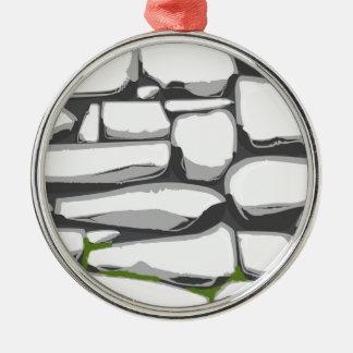 Grey Stone Wall Christmas Ornament