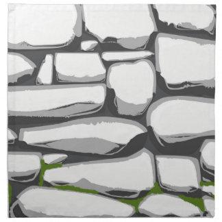 Grey Stone Wall Napkin