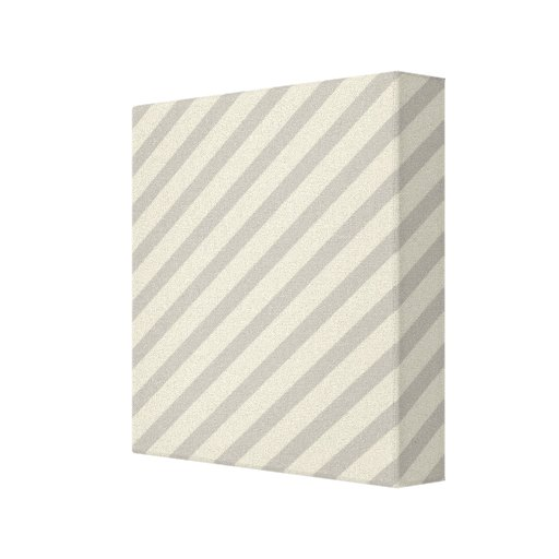 Grey Stripes Stretched Canvas Prints