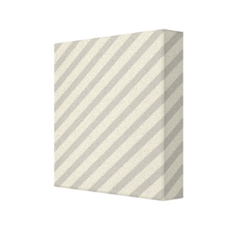 Grey Stripes Stretched Canvas Print