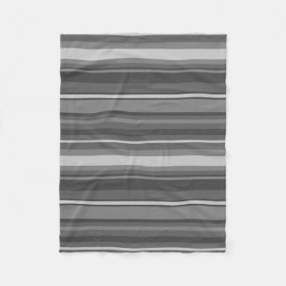 Grey stripes fleece blanket