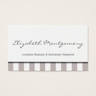 Grey Stripes Modern Appointment Business Card