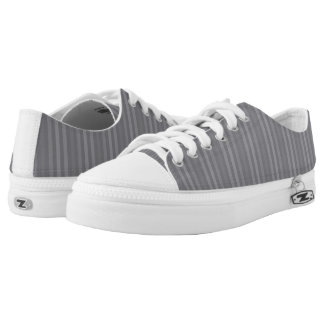 Grey Stripes Pattern Printed Shoes