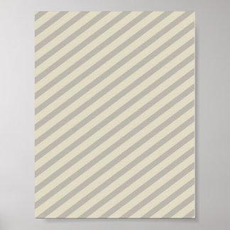 Grey Stripes Print
