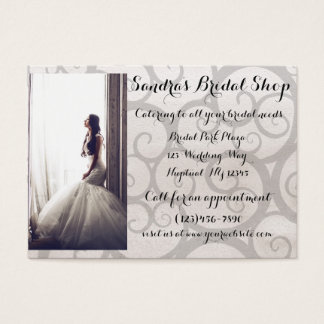 Grey Swirl Bride Bridal Shop Business Card