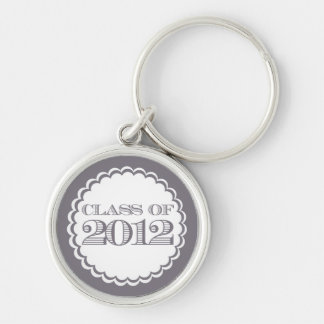 Grey Swirl Class of 2012 Graduation Key Chain