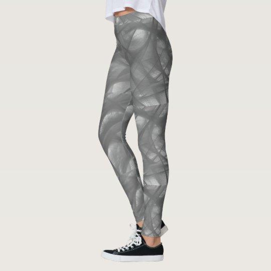 Grey swirl leggings
