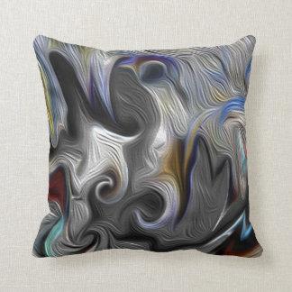 Grey Swirl Pillow Throw Cushions