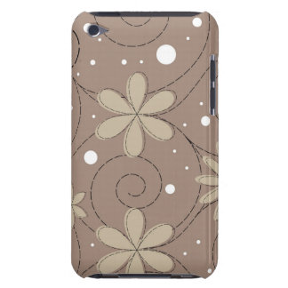 Grey Swirling Flower Design Barely There iPod Cover