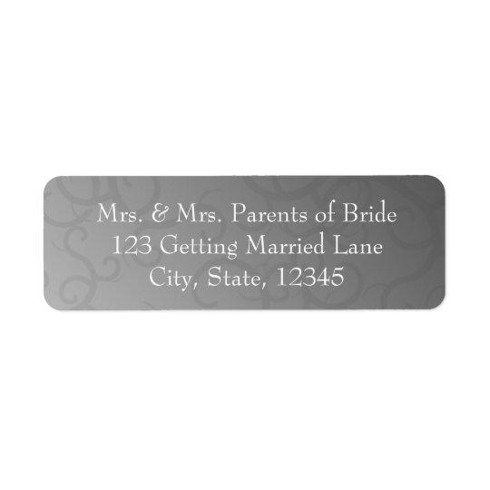 Grey Swirls Avery Label Return Address Label