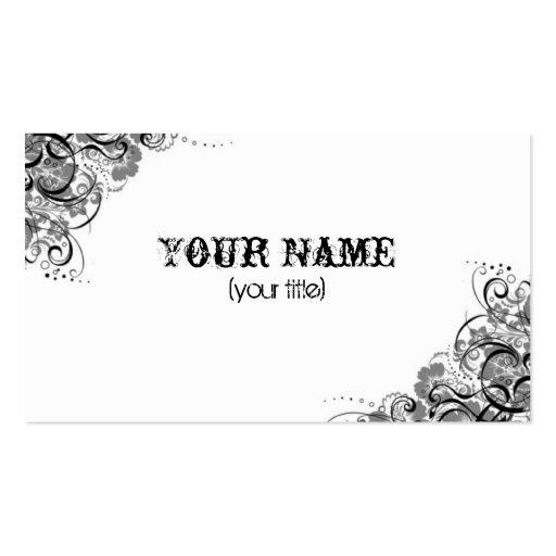 grey swirls business card