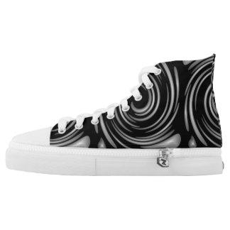 Grey Swirls Printed Shoes