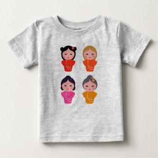 Grey t-shirt with Japan little girls