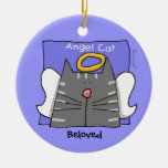 Grey Tabby Cat Angel Personalise